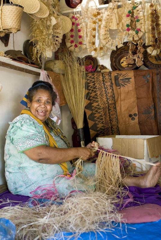 Lady at Nadi Markets, Fiji