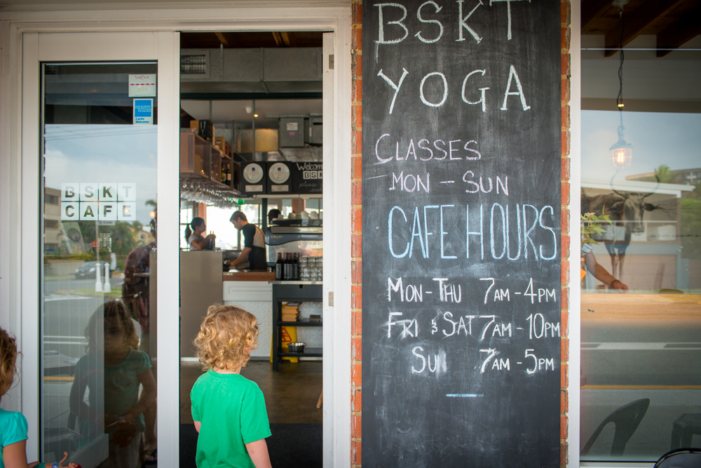 Entrance to BSKT cafe, Mermaid Beach, Gold Coast, Queensland