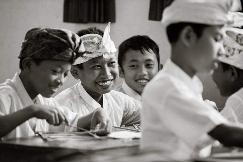 A photograph I took at a school in Bali for Bali Kids. Obviously I had permission to be in there and wander about but would never dream of entering a house or school without prior permission.