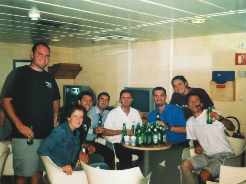 The staff and crew bar... not quite as glamorous as the ones above water level. From memory, we were only meant to have a maximum of two beers per person per day... made sure we cleared the table often.