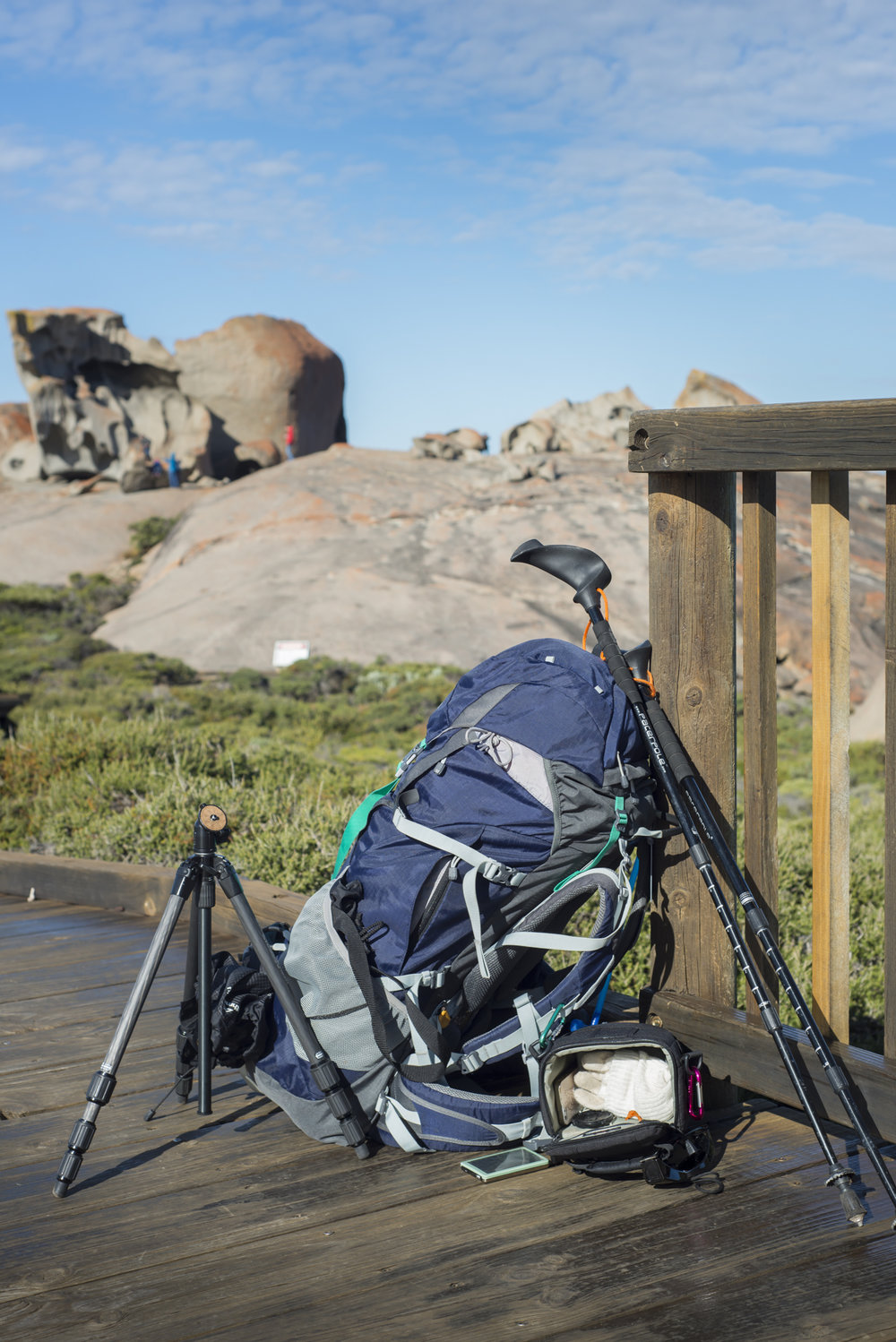 Of course, everyone packs a tripod and DSLR for a hike, right?