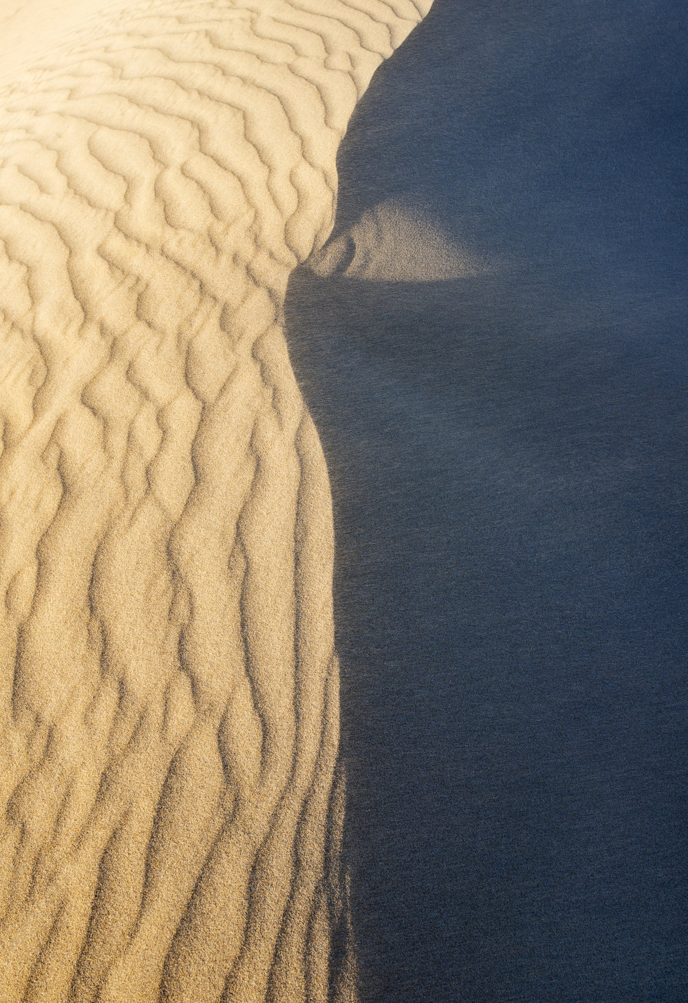 Wind patterns atop the dunes at Little Sahara.