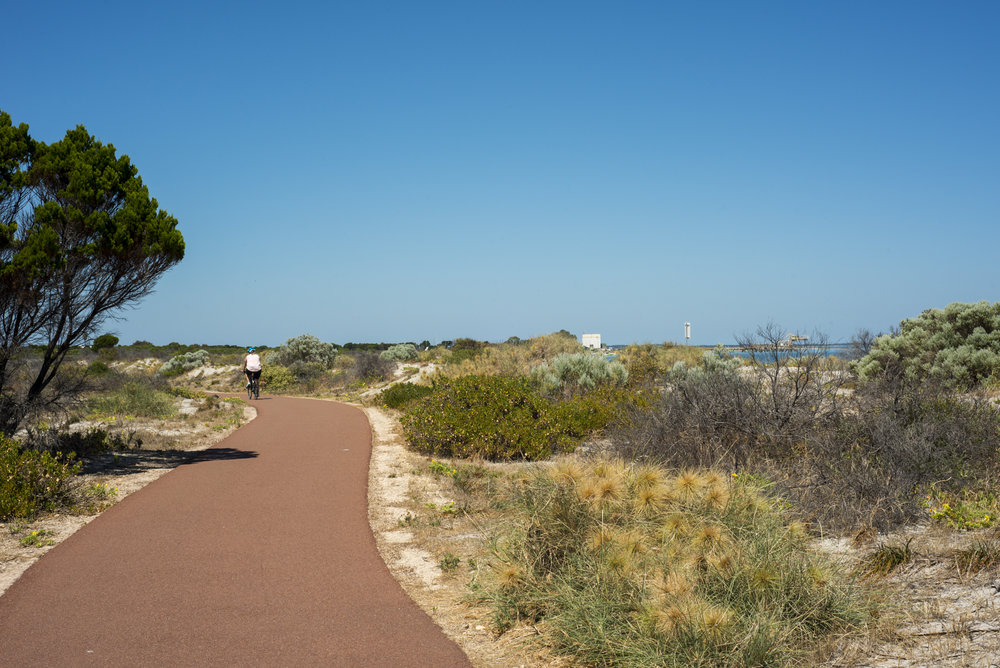 Coastal path south of South Beach.