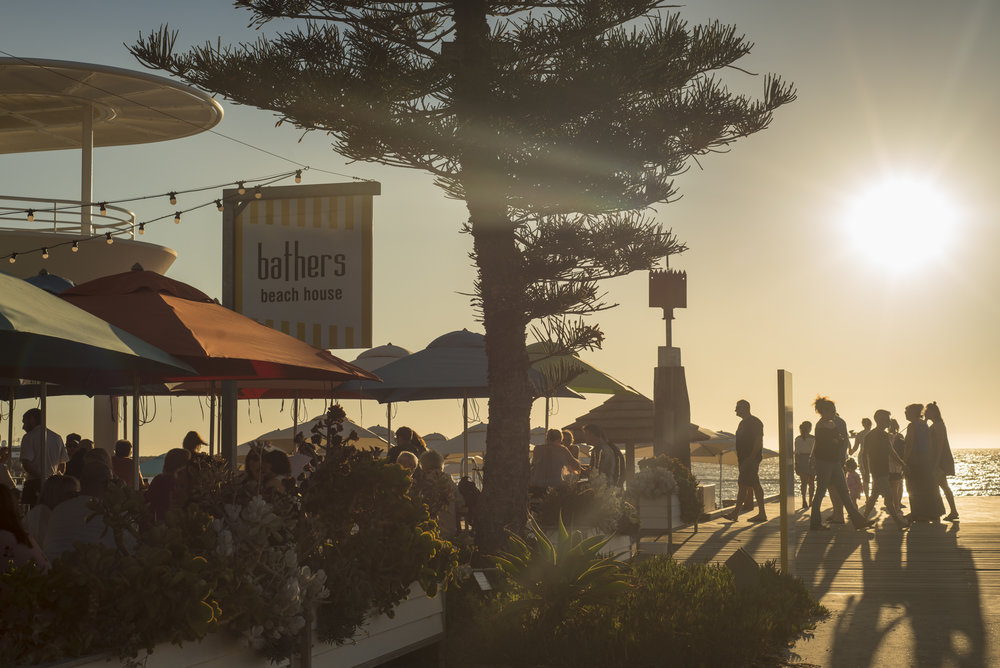 Sunsets and cocktails at Bathers Beach House, Fremantle.