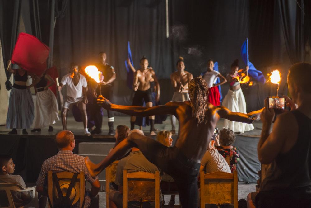 Cuban dance rehearsal