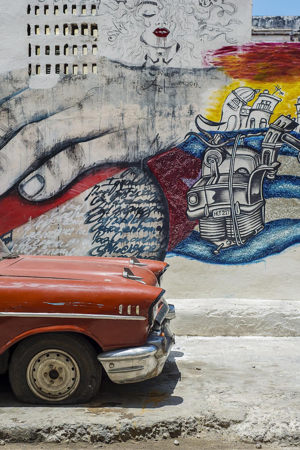 Pintura Cubana De Muralla - Cuban Wall Painting