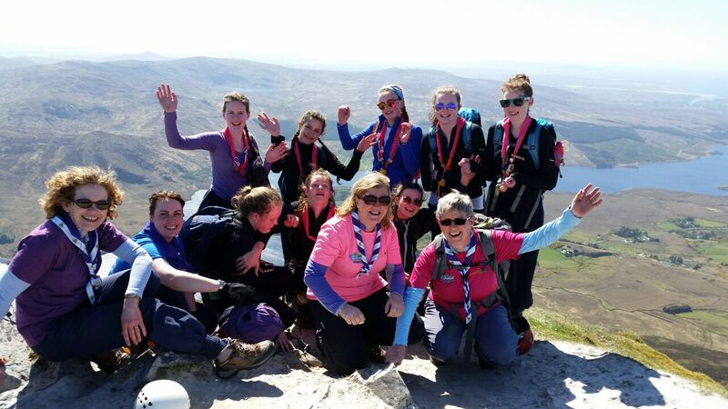 Irish Girl Guides Senior branch with leaders on the summit of Errigal mountain. Photo Anne McPartland.jpg