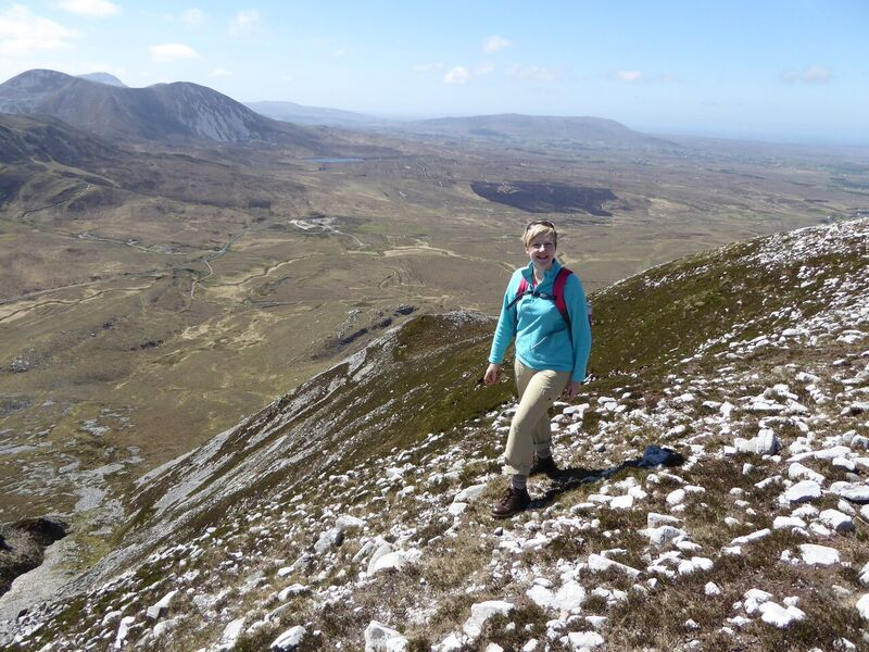 Lorraine Tease from Derry who climbed Muckish for the first time as part of the Women With Altitude event, saying afterwards that she was physically tired, but exhilarated, photo Helen Lawless, Mountaine.jpg
