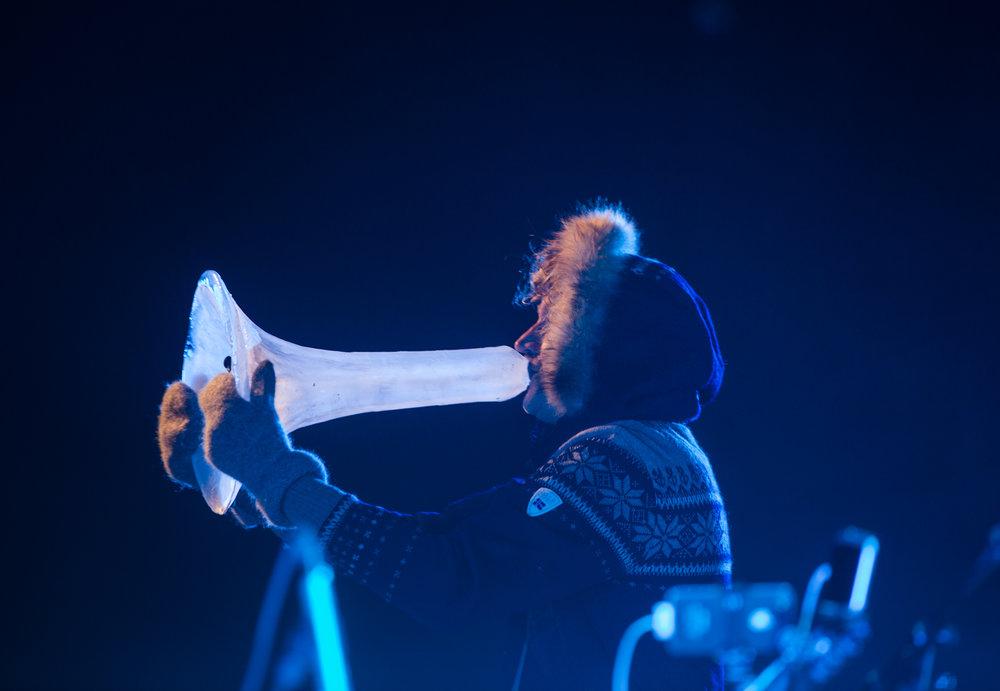 Terje Isungset - Arctic Ice Music, Førdefestivalen 2016. Foto: Geir Birkeland.