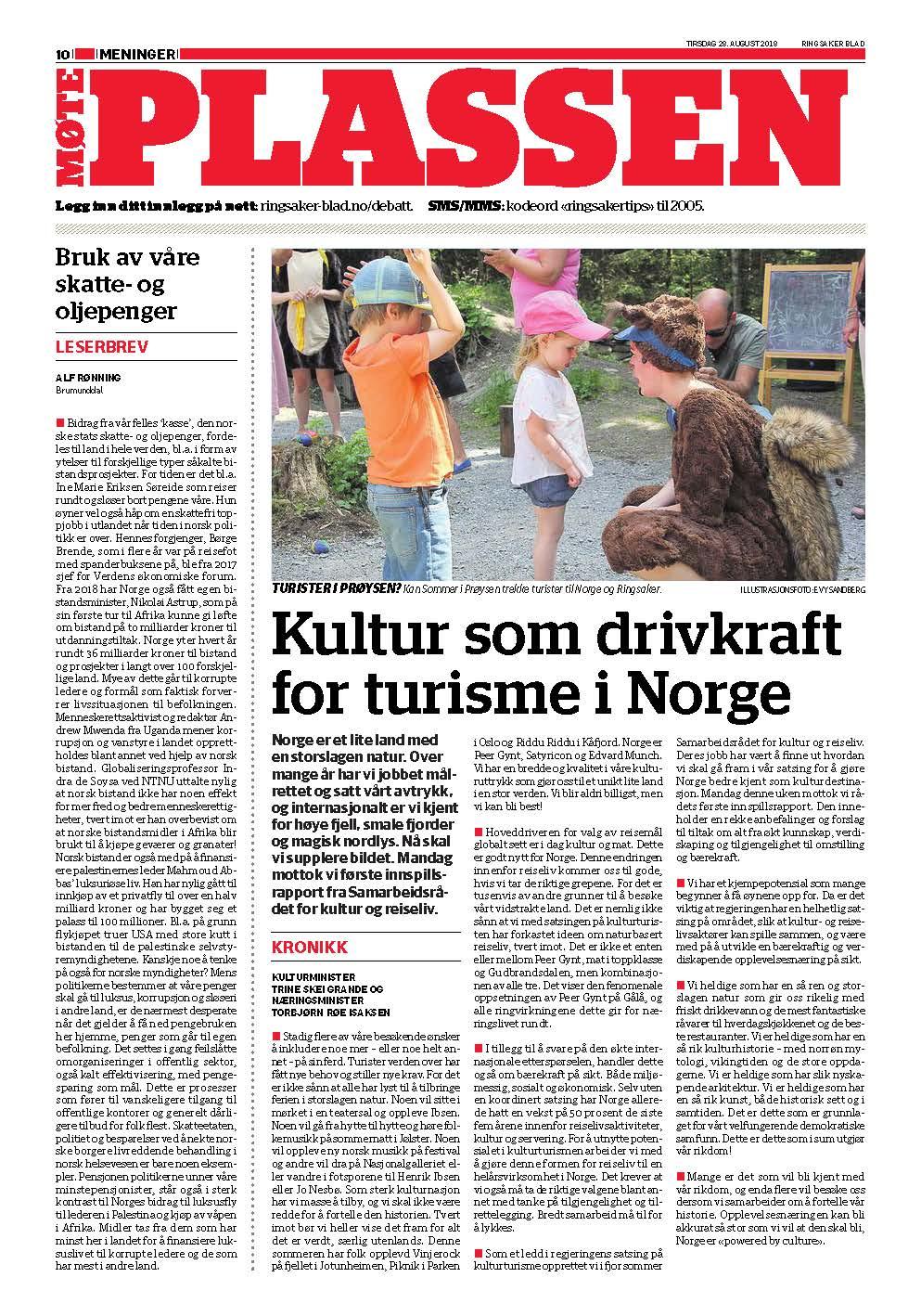 Ringsaker Blad - kultur og reiseliv - kronikk Skei Grande og Rød Isaksen.jpg