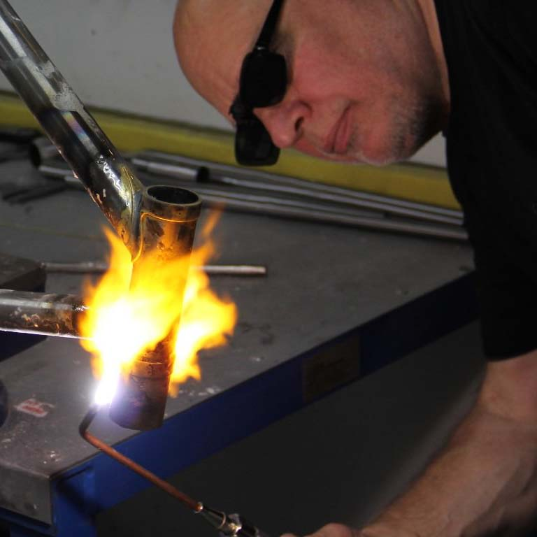 custom bicycle frame building
