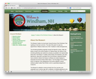 Visit the Windham Museum web page to learn more