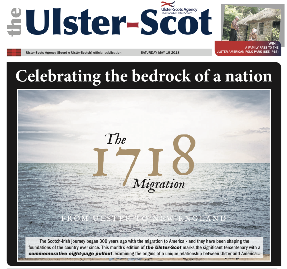 May 2018 issue of The Ulster Scot publication ( download PDF )