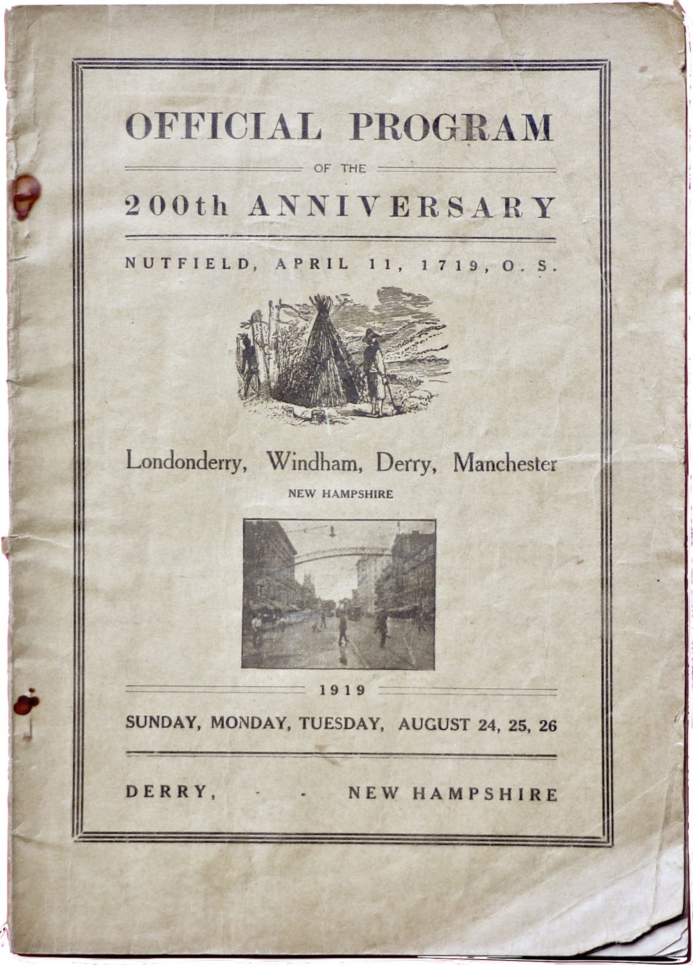 200th Program Cover