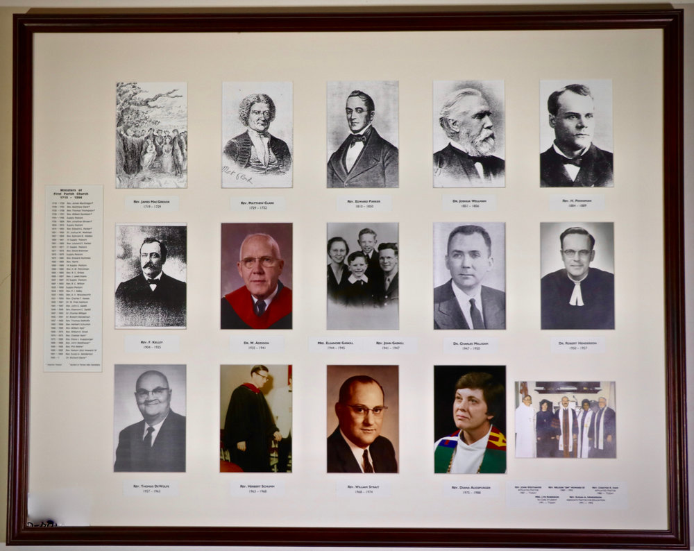 Some of these pastors from Rev. MacGregor in 1719 through 1993 may not make it, but several recent First Parish pastors will be joining the Founders Day celebration.