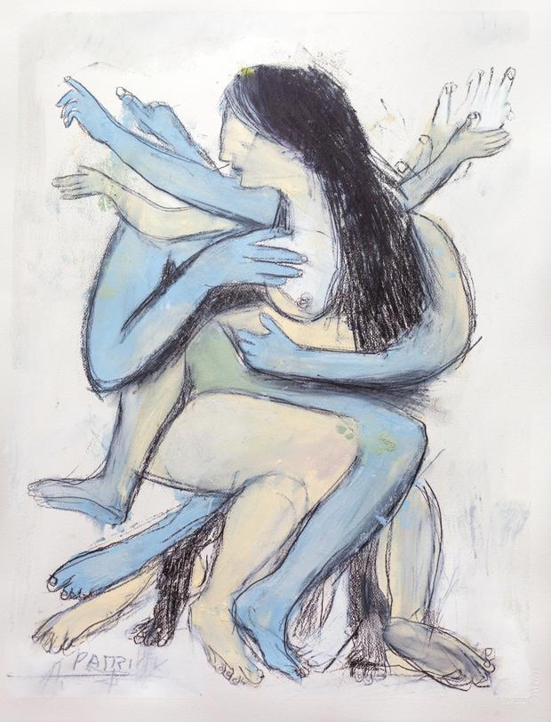 Nude, (Blue)