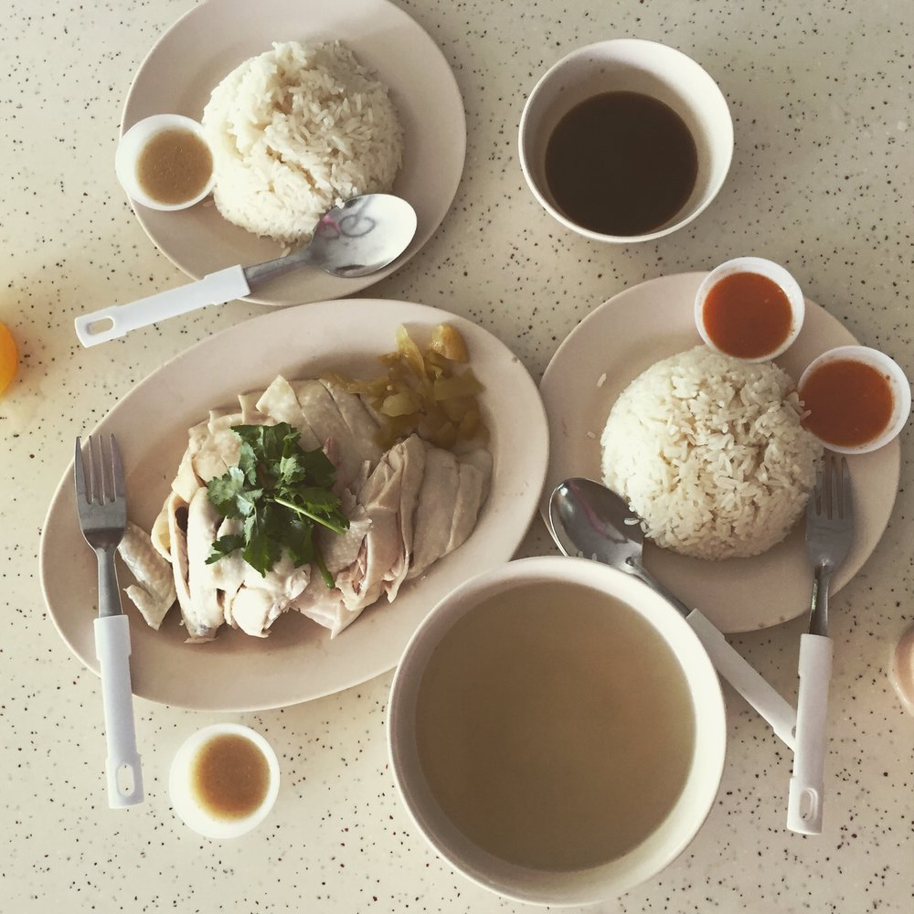 Chicken Rice (soya sauce on the side) from Tiong Bahru Market.