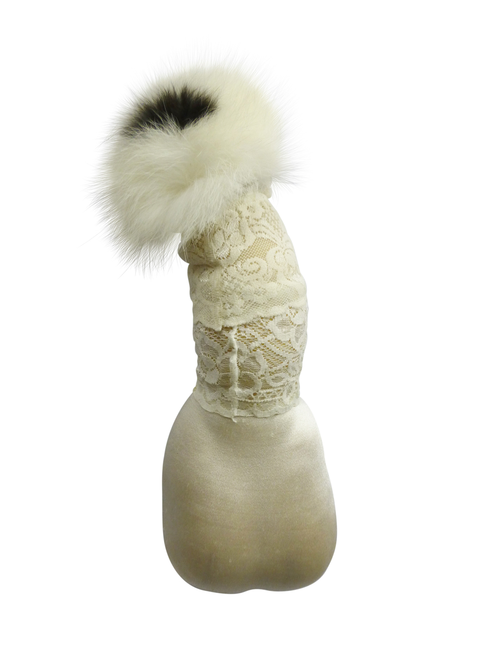 Nr.4,  Nylons, sheep`s wool, rabbit fur, 27x6x6 cm
