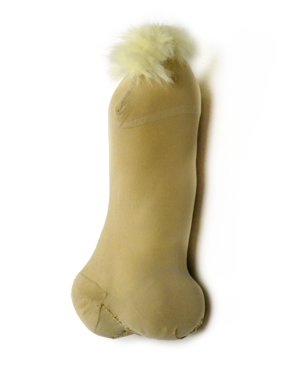 Nr.5, Nylons, sheep`s wool, rabbit fur, 16x6x6 cm