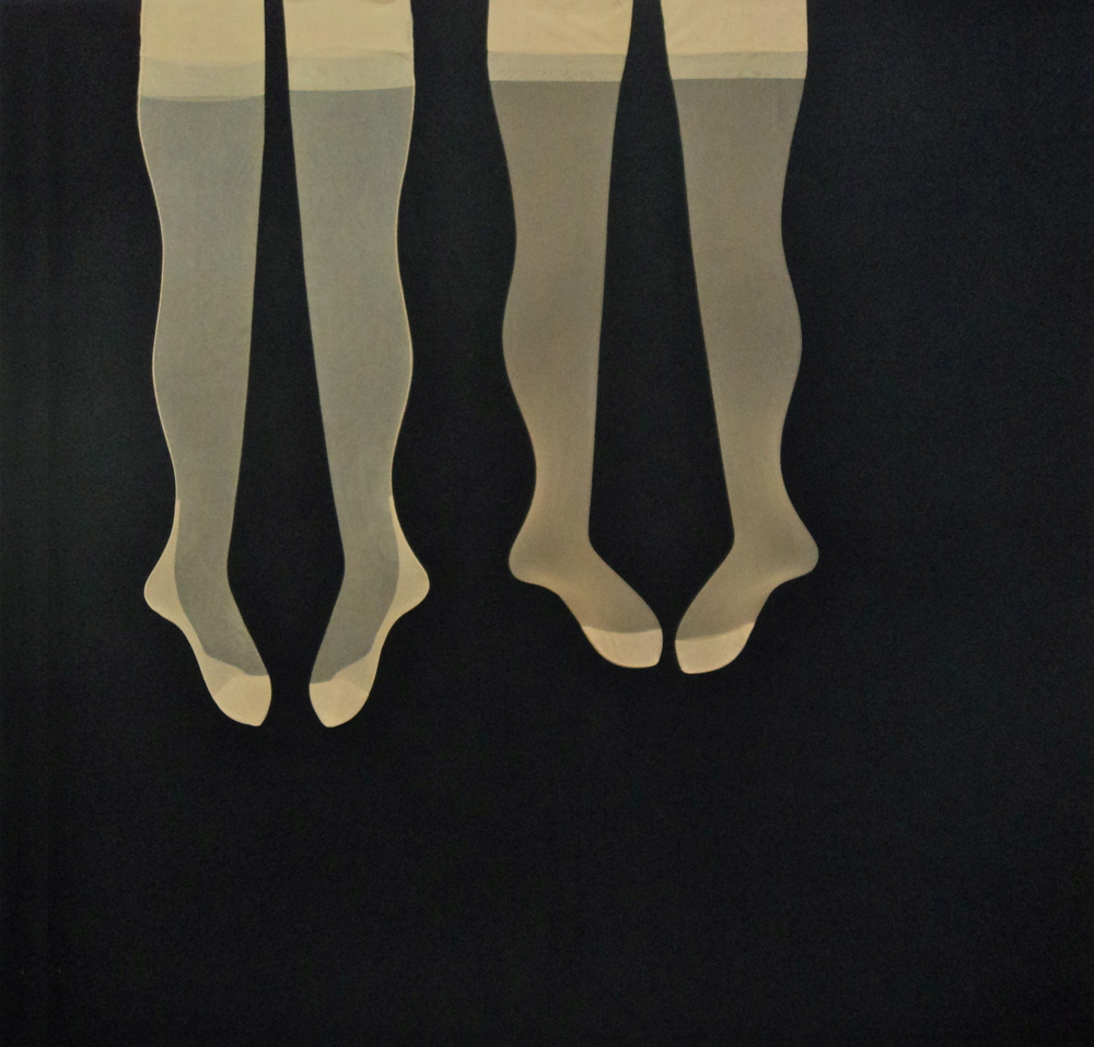 Nr.2, Nylons needled on molton, 180x120 cm