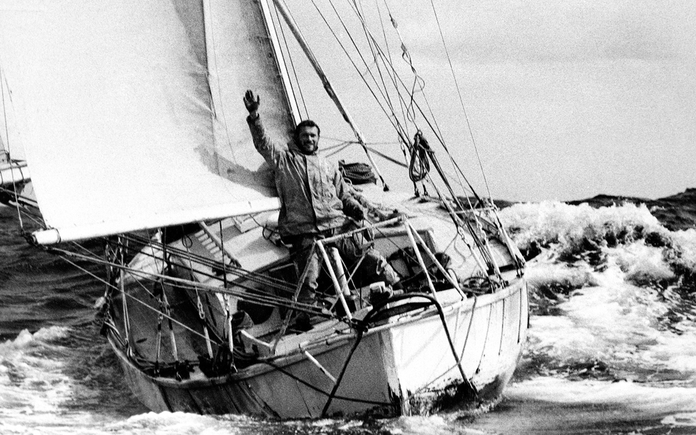 Sir Robin Knox Johnston at the bow of Suahili. Credit PPL.Ldt.jpg