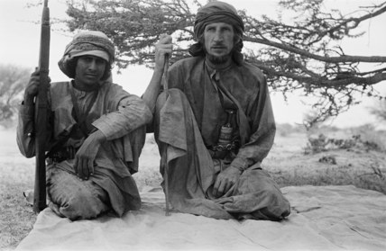 Portrait of Salim bin Ghabaisha and Thesiger, August 1948.jpg