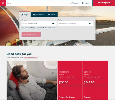 Norwegian Airlines' Visual Engagement