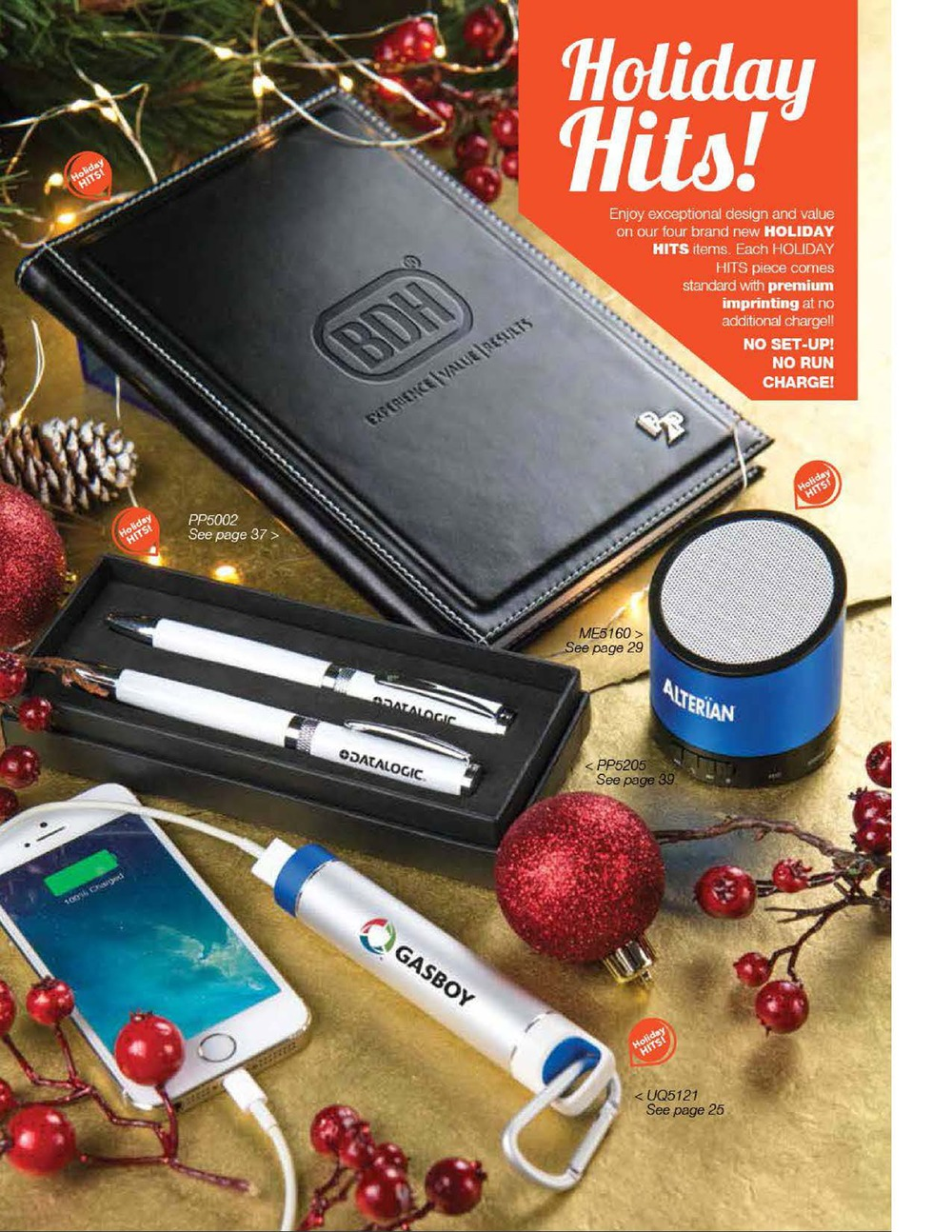 FREE SETUP Items! Click for full holiday catalog, though not all items have free setup.