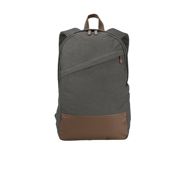 Port Authority Cotton Canvas Backpack.