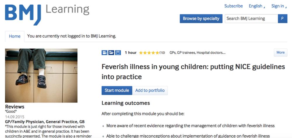 Feverish Illness in Children