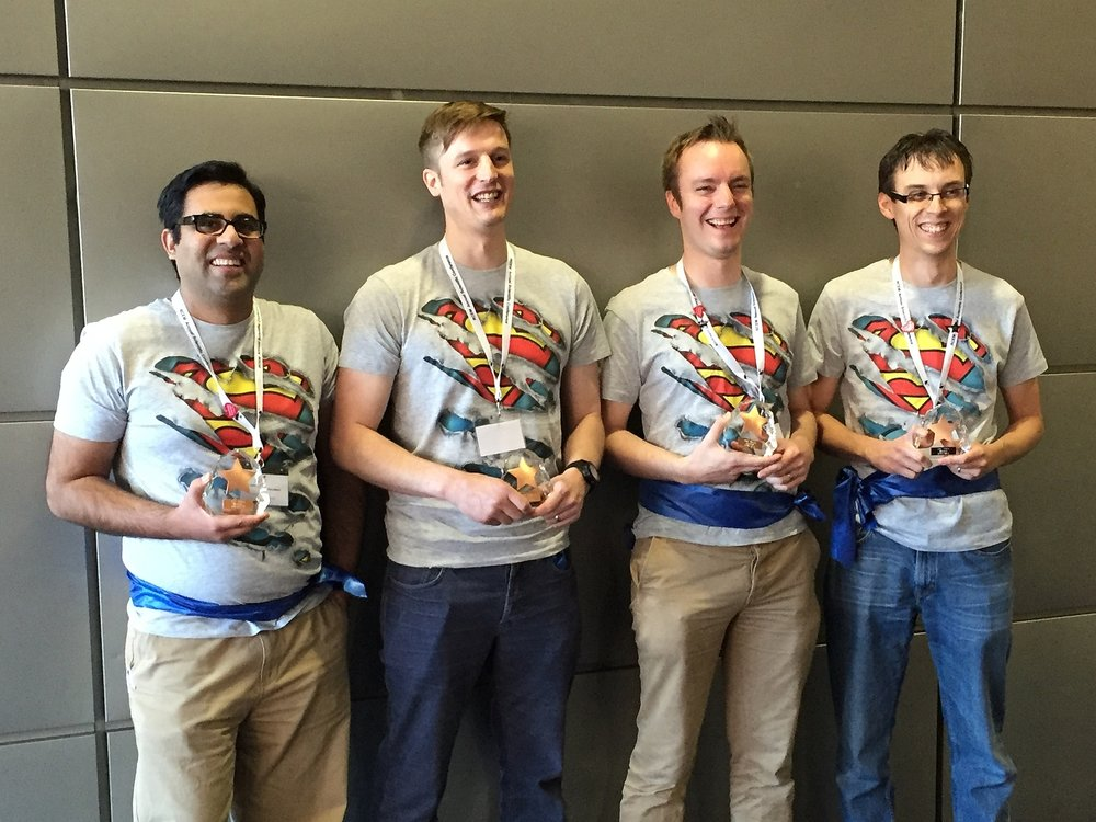 The Winners of SIMStars at RCEM 15 - Left to Right: Adeel, Nick, Steve, Scott.
