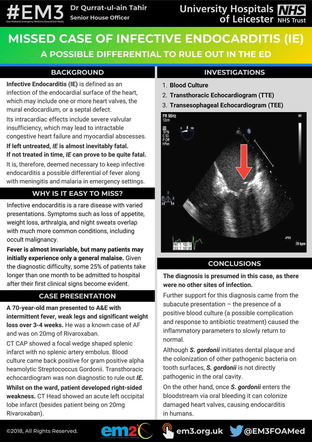 Infective Endocarditis - EM2C poster (Qurrat-ul-ain Tahir).jpg