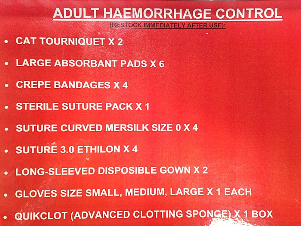 Haemorrhage Control - Stack contents.jpg