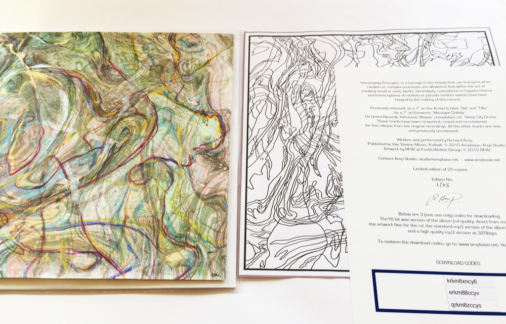 showing artwork from No1 in the the edition, each painting (on the left of image) is unique but in the same style. The coloring in print on the right hand side is included in every copy of the edition.