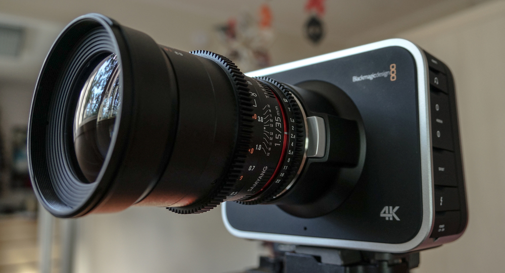 The BMPC with the Samyang 35mm T1.5