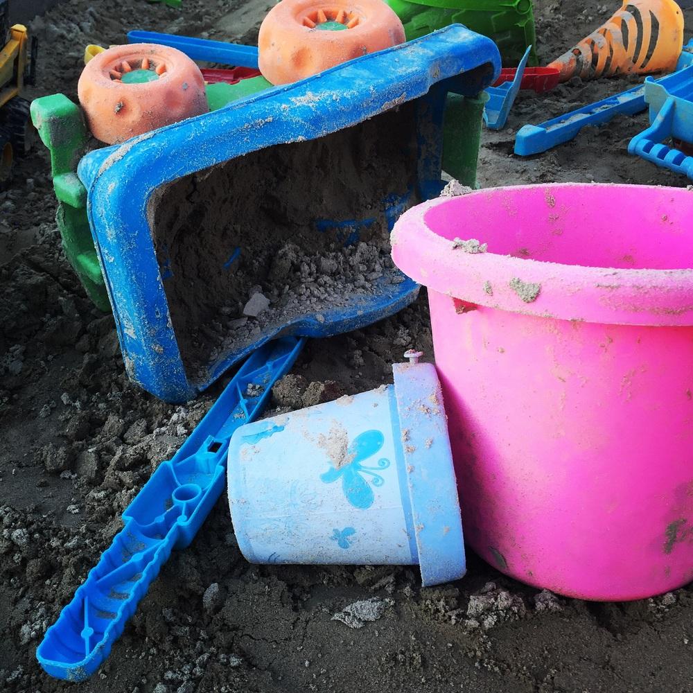 Sandbox aftermath.