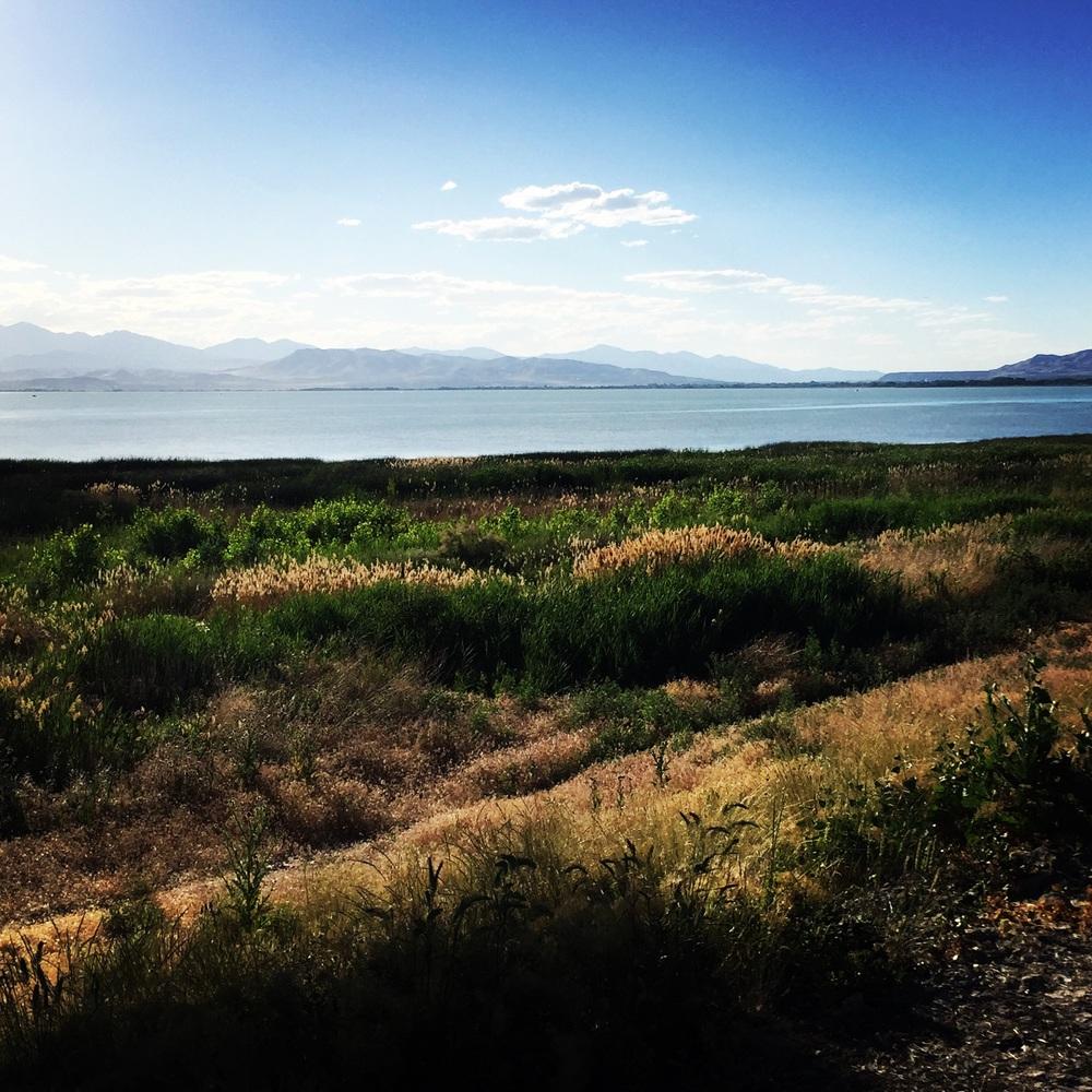 Utah Lake, looking northwest June 17, 2016.