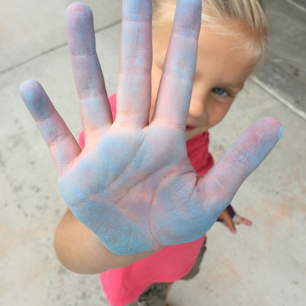 Chalk to the hand, Dad.