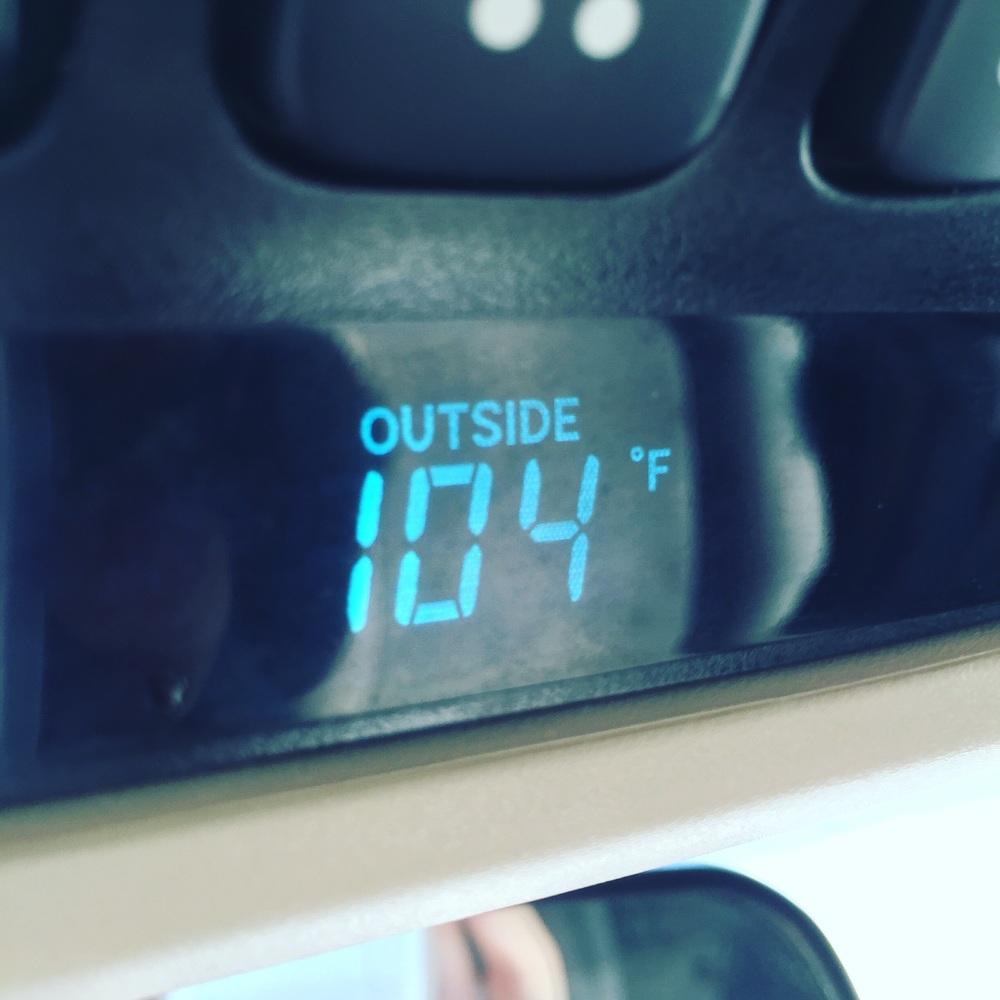 Temperature in the shade.