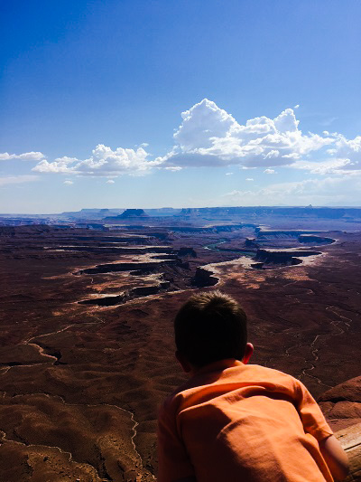 Taking in the beauty of Canyonlands National Park, Utah.