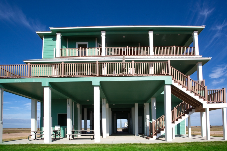 Beachfront Home,  Back Deck