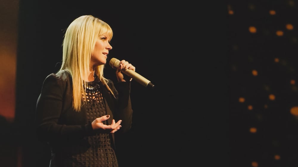 "Grammy-nominated recording artist Natalie Grant performs her hit song, ""Burn Bright.""  Photo By: CAGED MOVIE LLC.  Download This Photo"