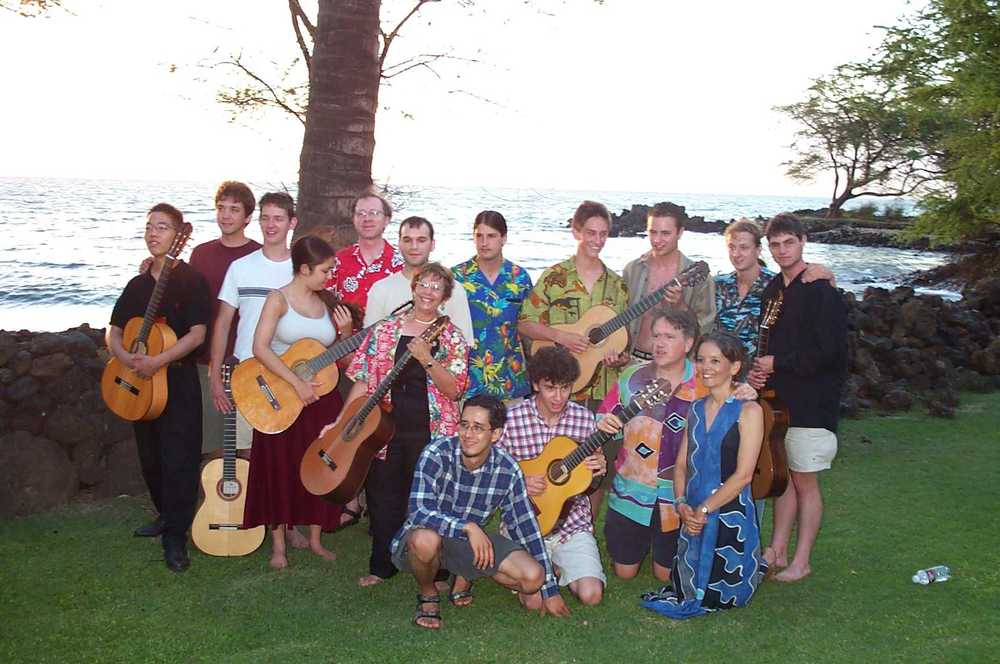 Ben Verdery with his Hawaii Class, 2002