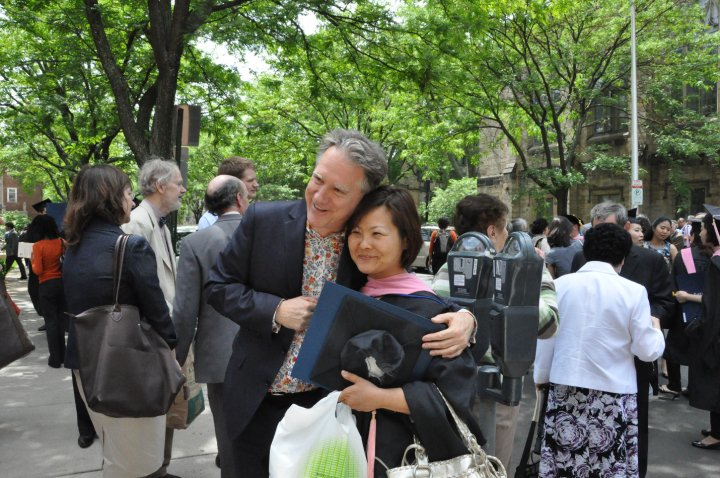 Ben with Chieko Hata after the Yale School of Music Graduation ceremony