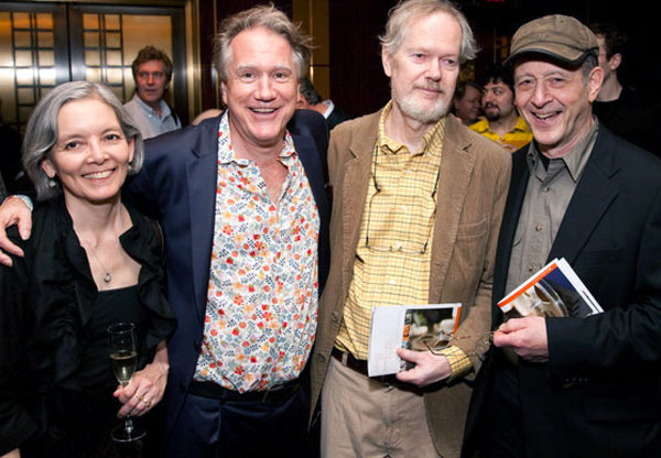 Ben with flutist Rie Schmidt and composers Ingram Marshall and Steve Reich