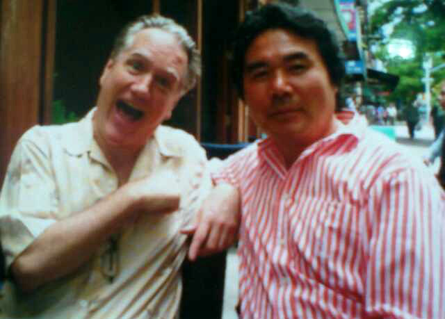 Benjamin with Korean Maestro Manche at lunch in NYC.