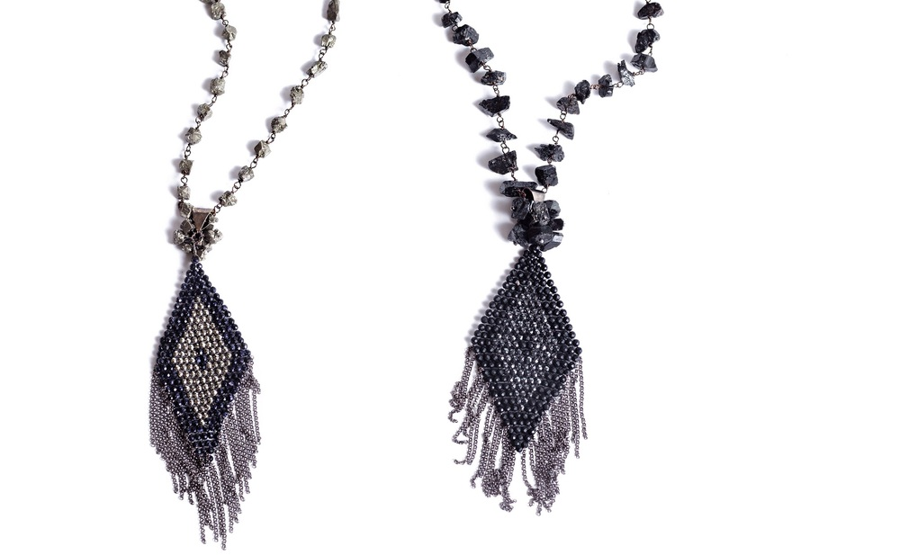 TREVA NECKLACES from the Jewel Tone Collection.   Visit www.myrnahalpern.com for more.  COMING SOON  LEXIE COLLECTION FOR FALL 2015- 70's influenced love beads....very organic with recycled glass and suede fringe. STAY TUNED!