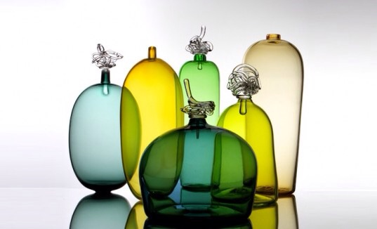 Gorgeous gaudy glass objects.
