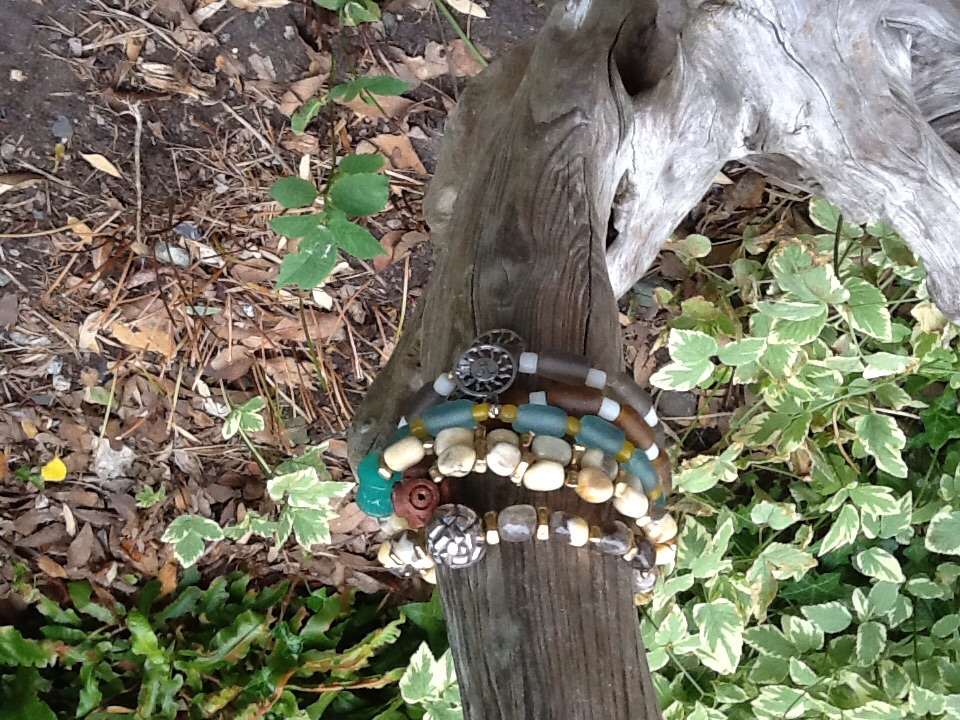 Lost in a forest of stackable bracelets.