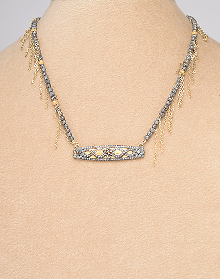 And our fringy Sammi necklace would be a great addition to the mix.